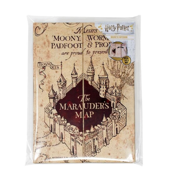 Harry Potter Magnetisches Notizbuch A5 The Marauder's Map
