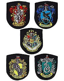 Harry Potter Aufnäher 5er-Pack Hauswappen