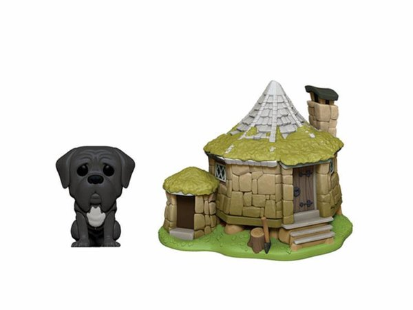 Harry Potter POP! Town Vinyl Figur Hagrid's Hut & Fang 9 cm