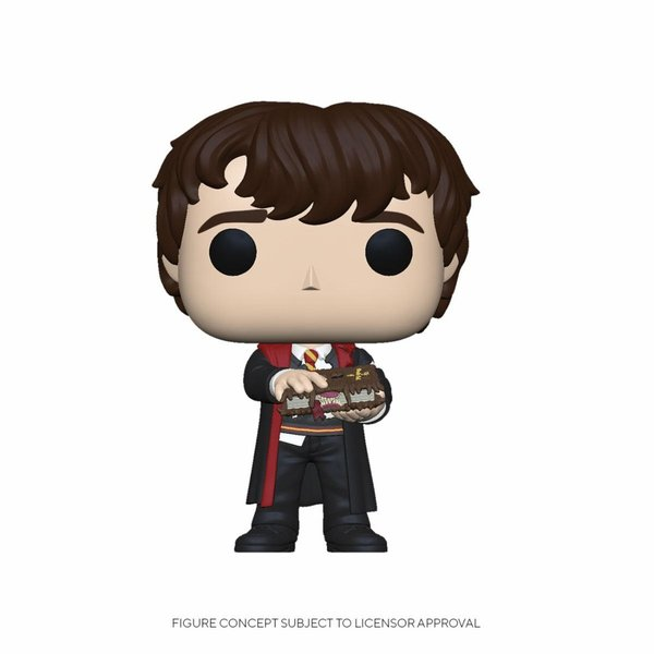 Harry Potter POP! Movies Vinyl Figur Neville w/Monster Book 9 cm