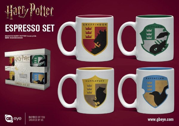 Harry Potter Espresso-Tassen 4er-Pack House Pride