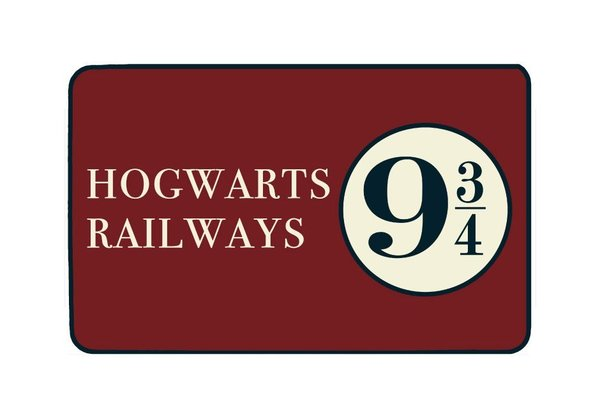 Harry Potter Teppich Hogwarts Railways 9 3/4 80 x 50 cm