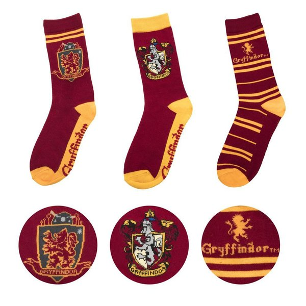 Harry Potter Socken 3er-Pack Gryffindor