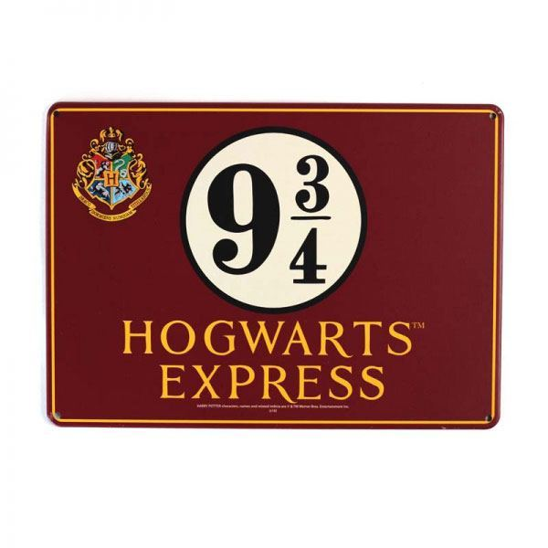 Harry Potter Blechschild Platform 9 3/4 21 x 15 cm