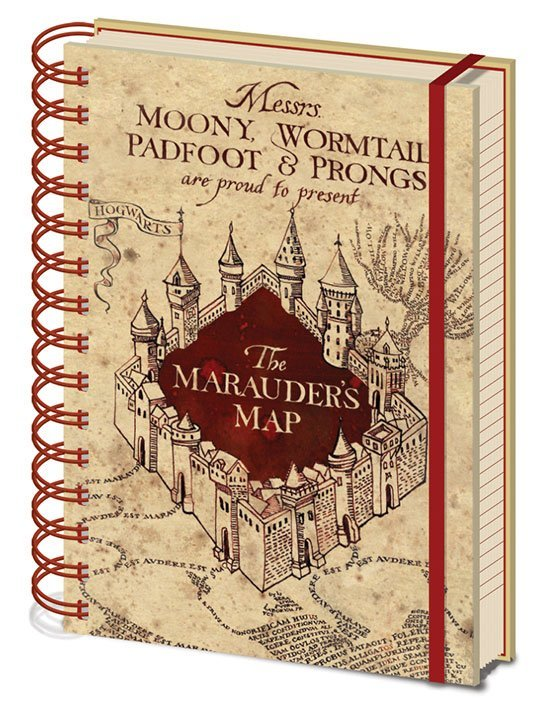 Harry Potter Notizbuch A5 Marauders Map