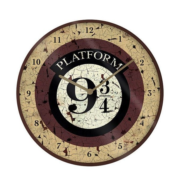 Harry Potter Wanduhr Platform 9 3/4