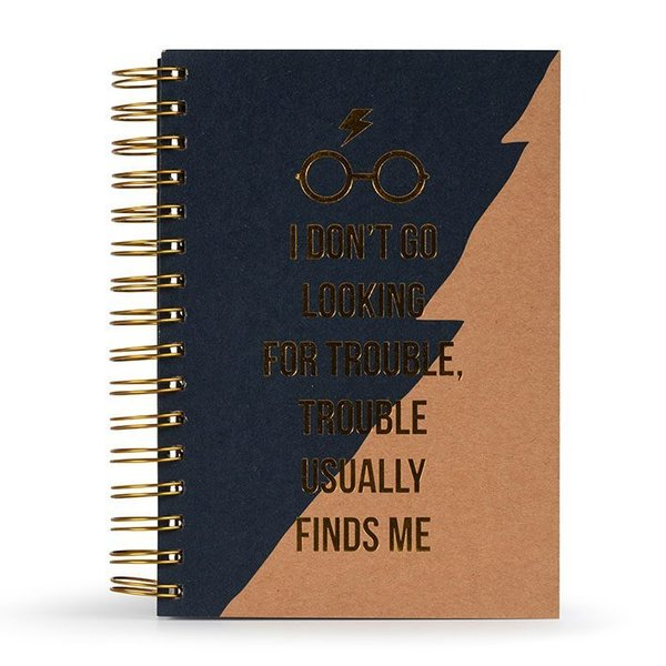 Harry Potter Premium Notizbuch A5 Trouble Usually Finds Me